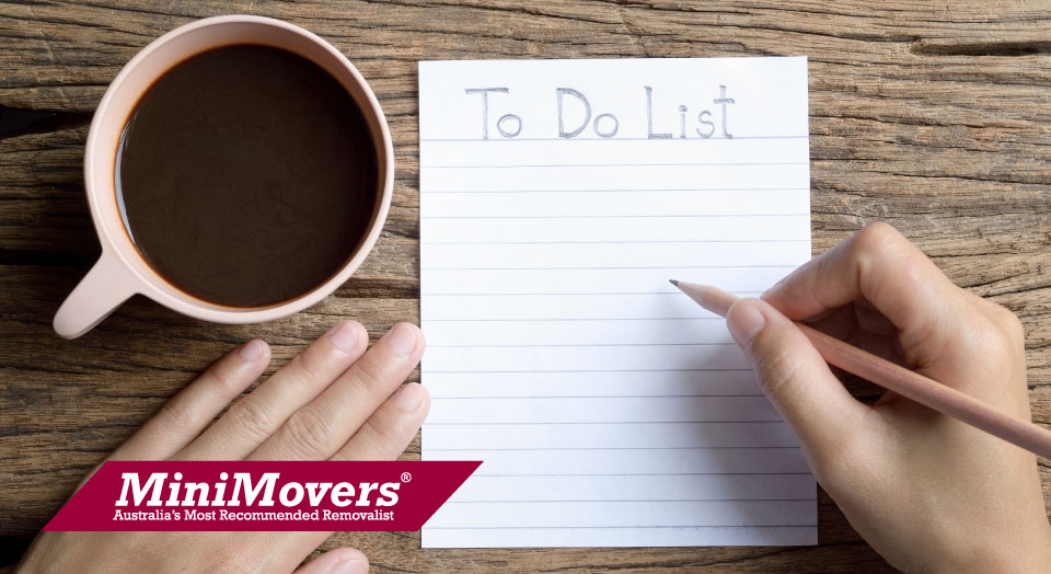 MiniMovers Moving Checklist
