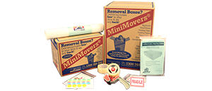 Packing supplies and moving boxes of MiniMovers