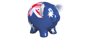Piggy bank of Australia symbolises saving