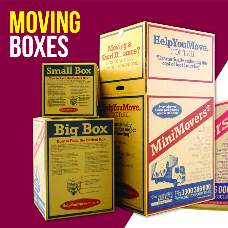 MiniMovers moving boxes